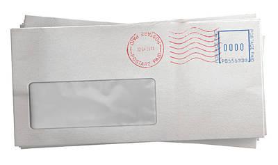 Advice Digital Art - White Envelope Stack by Allan Swart