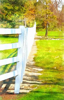 White Fence In Summer Original by Dan Sproul