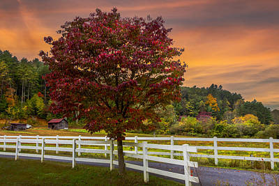 Old Country Roads Photograph - White Fences by Debra and Dave Vanderlaan