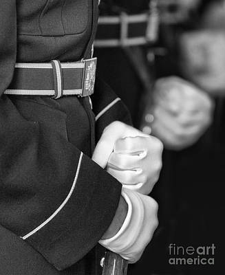 Jefferson Memorial Digital Art - White Gloves Bw by Jerry Fornarotto