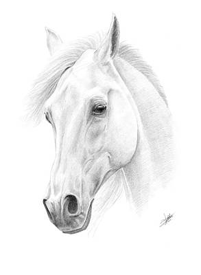 White Horse Print by Christian Klute