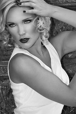 Mascara Photograph - White Hot Bw Palm Springs by William Dey