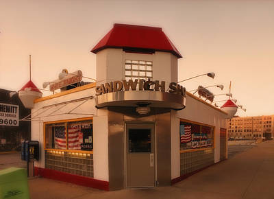 White Knight Sandwich Shop Print by Greg Kluempers