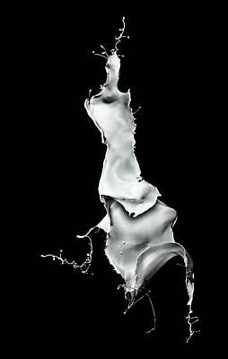 White Liquid Splash Print by Andy Astbury