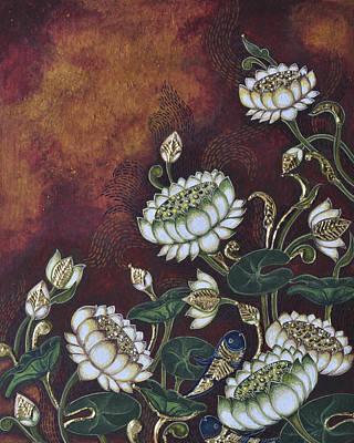 White Lotus Print by Sucheta Misra