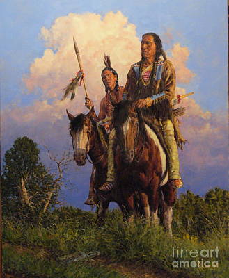 Pinto Painting - White Man's Trail by Bradley Schmehl