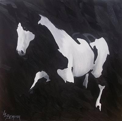 Pinto Painting - White Markings Iv by Lisa Lea Bemish