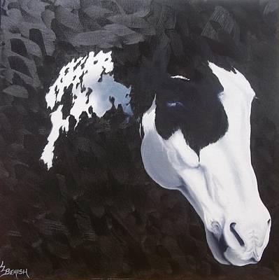 Pinto Painting - White Markings Xv by Lisa Lea Bemish