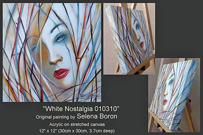 Women Painting - White Nostalgia 010310 Comp by Selena Boron