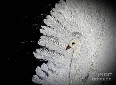 White Peacock Print by Jasna Gopic