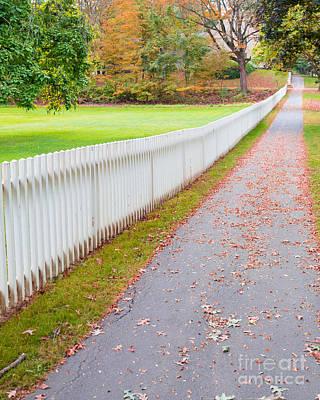 Deerfield Photograph - White Picket Fence Deerfield Ma by Edward Fielding