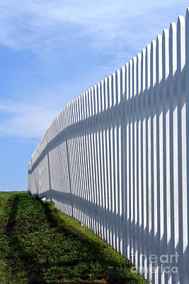 White Picket Fence Print by Olivier Le Queinec