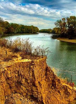 White River Scene Photograph - White River Erosion by Julie Dant