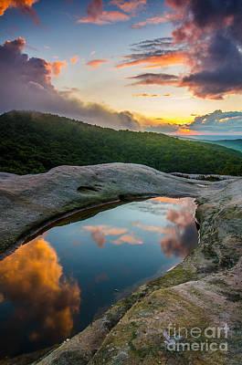 White Rocks Sunset Print by Anthony Heflin