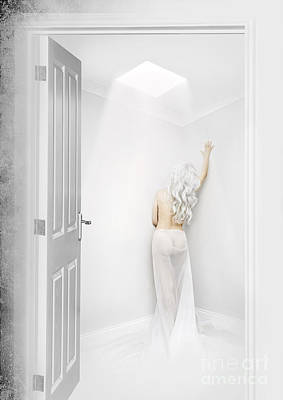 Gown Mixed Media - White Room by Svetlana Sewell