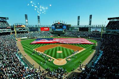 White Sox Opening Day Print by Benjamin Yeager