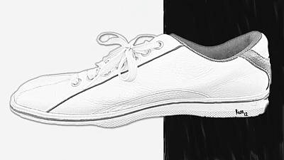 White Tennis Shoe Print by Billy Cooper Rice