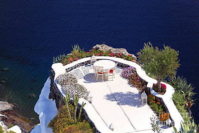 Vacances Photograph - White Terrace by Aiolos Greek Collections