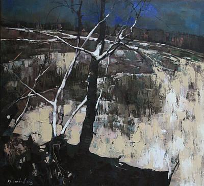 Thread Painting - White Thread by Anastasija Kraineva