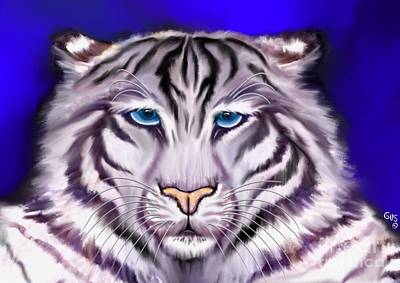 White Tiger Print by Nick Gustafson