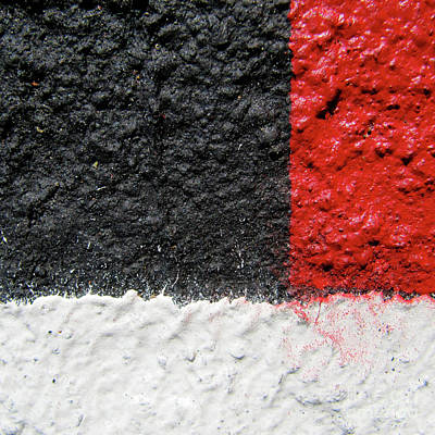 Photograph - White Versus Black Over Red by CML Brown