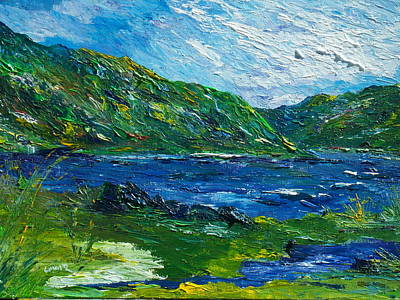 White Water Rafting Painting - White Water In Kenmare  Kerry by Conor Murphy