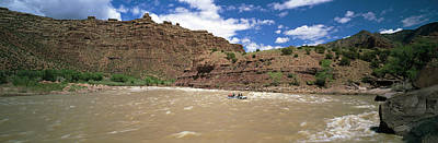 White Water Rafting In Green River Print by Panoramic Images