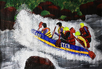 White Water Rafting Painting - White Water Rafting by Sushobha Jenner