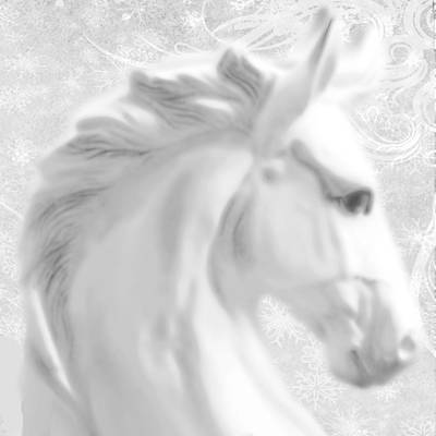 White Winter Horse 1 Original by Tony Rubino