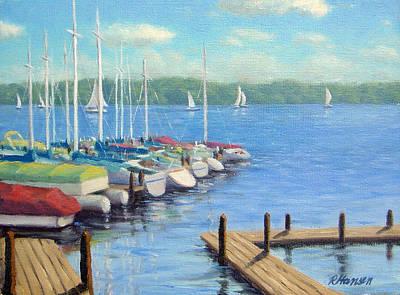 Sports Artist Painting - Whitebear Lake Docking by Rick Hansen