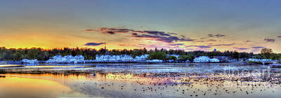 Northern Michigan Photograph - Whitehall At Sunset by Twenty Two North Photography