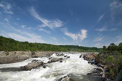 Whitewater On The Potomac River Print by Jim West
