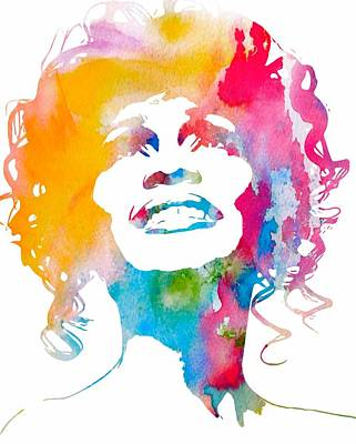 Whitney Houston Print by Dan Sproul