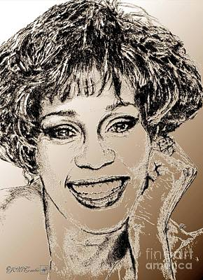 Mccombie Mixed Media - Whitney Houston In 1992 by J McCombie