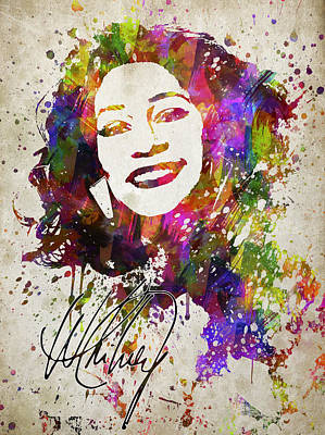 Rhythm And Blues Digital Art - Whitney Houston In Color by Aged Pixel