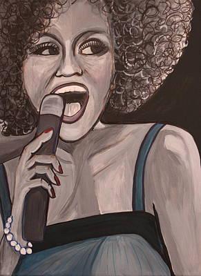 Whitney Houston Print by Kate Fortin