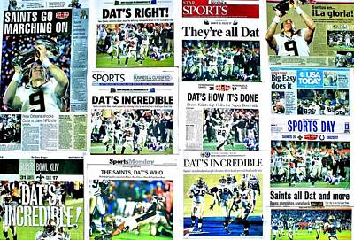 Who Dat Headlines Print by Benjamin Yeager