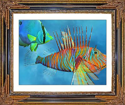 Lionfish Mixed Media - Who Framed The Fishes by Betsy Knapp