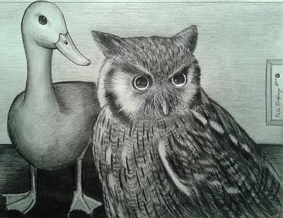 Drawing - Who Quack by Richie Montgomery