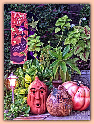 Who Scared Pumpkin Head? Halloween Display Print by Ella Kaye Dickey