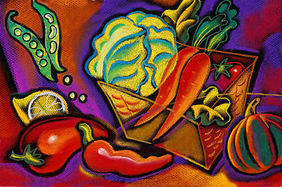 Lettuce Painting - Very Healthy For You by Leon Zernitsky