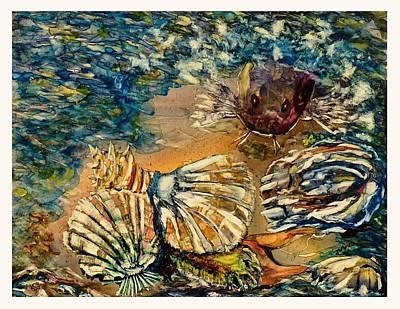 Catfish Mixed Media - Who's Got The Pearl? by Kim ShuckhartGunns