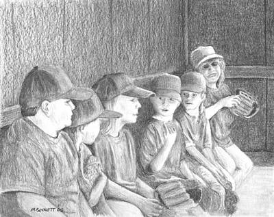 Softball Drawing - Whos On First by Michael Beckett