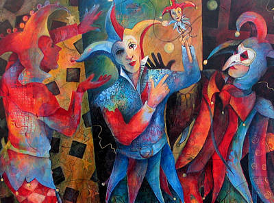Jester Painting - Who's The Fool. by Susanne Clark