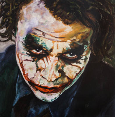 Heath Ledger Painting - Why So Serious  by Anthony  Baxton