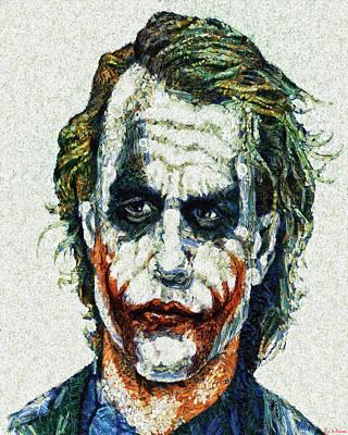 Heath Ledger Digital Art - Why So Serious by Joe Misrasi