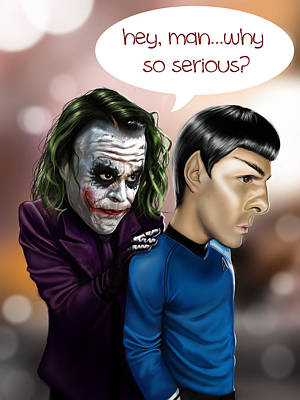 Heath Ledger Digital Art - Why So Serious by Tim Myers