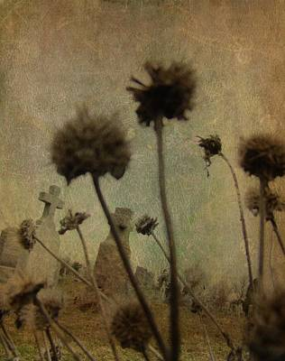 Graveyard Digital Art - Wicked Weeds by Gothicolors Donna Snyder