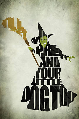 Typography Digital Art - Wicked Witch Of The West by Ayse Deniz
