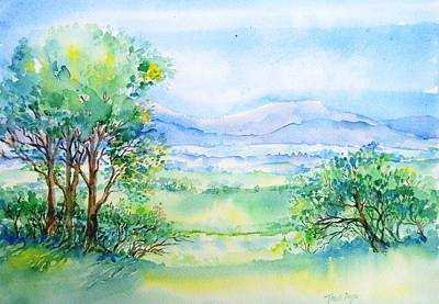 Ireland Painting - Wicklow Landscape In Summer by Trudi Doyle